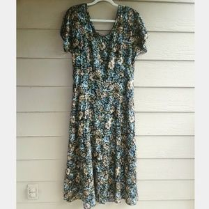 Vintage All That Jazz Maxi Midi floral dress